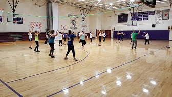 Sharon Springs Central School Spanish Club hosted a Zumbathon