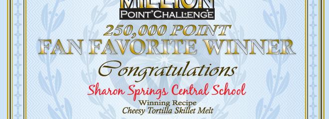 Sharon Springs is The Million Points Challenger Winner