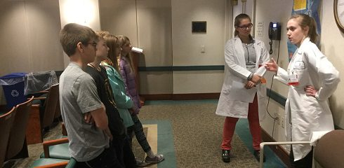 The 7th graders from SSCS visited Bassett Hospital in Cooperstown