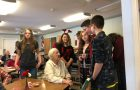 SSCS Student Council Members spread Valentine's Cheer at Marchand Manor